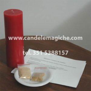 candela rossa e preghiera del dominio