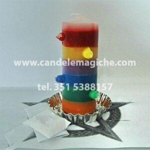 candela brasiliana a sette fuochi e sette colori