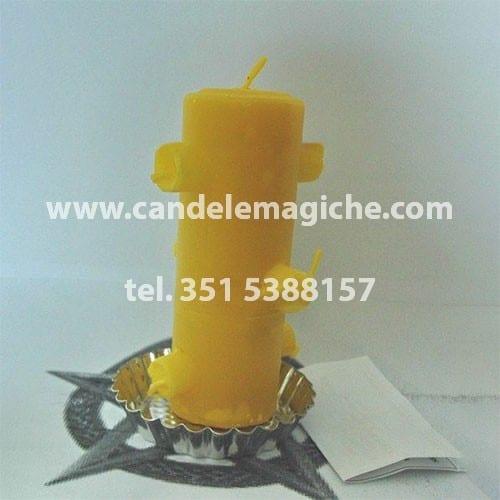 candela 7 fiamme brasiliana di colore giallo