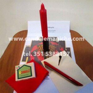 kit con candela speciale pomba gira per riti di amore e sesso