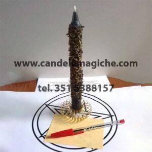 candela con 3 erbe porta fortuna