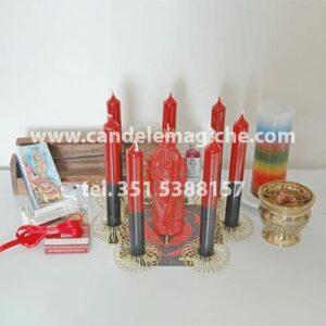 kit accessori e candele per il grande rituale pomba gira per legami sessuali