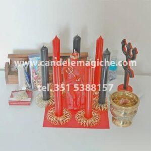 kit accessori e candele per il rituale di xango