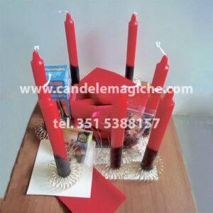 kit di candele e accessori per legamento d'amore della bara rossa