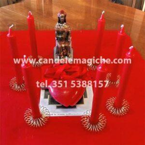 kit con condele rosse per legamento d'amore di cuori infiammati