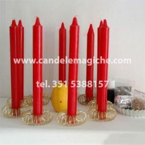 kit accessori e candele per legamento d'amore del limone giallo