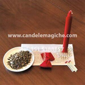 candela rossa e malva del cimitero per legamento d'amore
