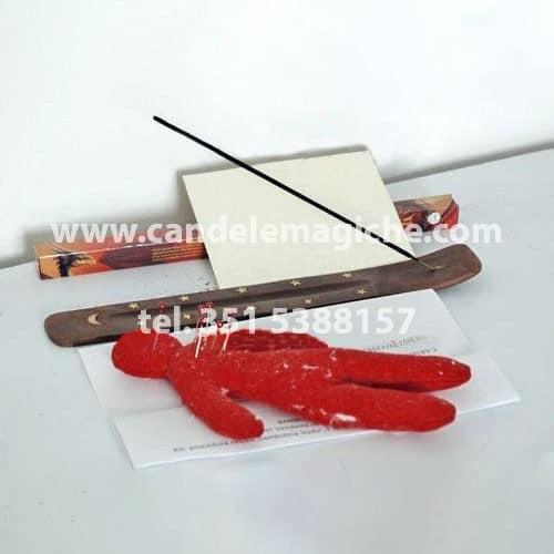 bambola voodoo rossa per macumba legamento sessuale
