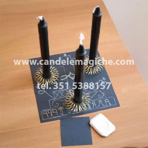 candele nere per rituale di magia voodoo guèdè per togliere le negatività