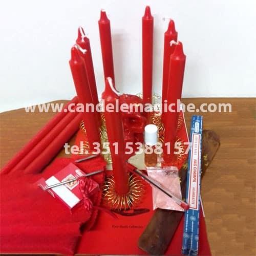 kit candele ed oggetti per rito brasiliano due cabesas