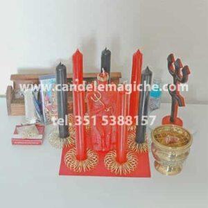 candele e accessori per effettuare il rito brasiliano per la separazione