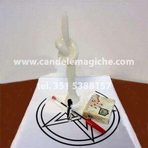 Candela nodo bianca per rituale magico