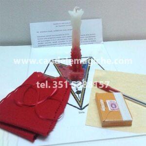 candela di sirio per rituale della passione