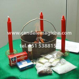 kit accessori e candele per il rito negromantico