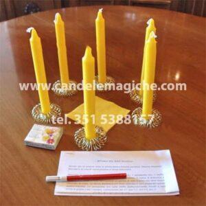 set di candele per il rito nigeriano del sole