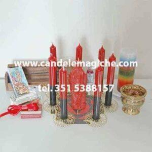 kit candele e accessori per il rito di pomba gira per arrivare al matrimonio