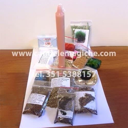 kit di erbe per il rito della smania gialla