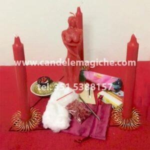 kit per effettuare il rituale per farsi amare da una donna