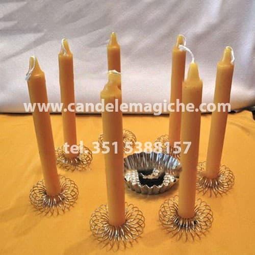 set candele gialle per rituale magico per fortuna economica