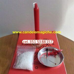 candela rossa e altri accessori per legamento d'amore con foto