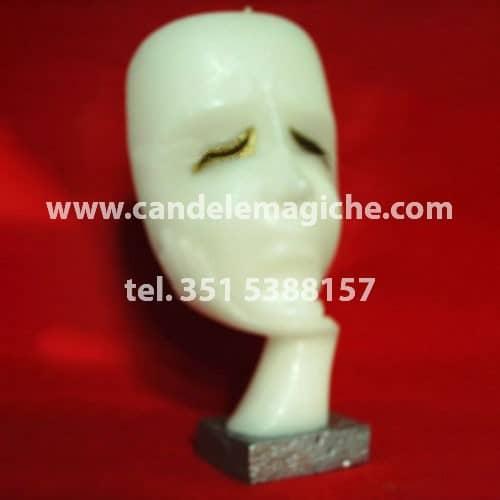 candela del pensiero a forma di maschera