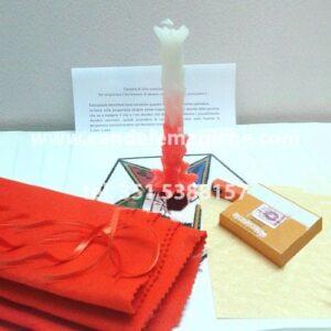 candela di sirio arancione per effettuare il rito per superare esami e incrementare la clientela