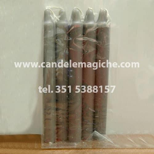 set 10 candele in cera consacrata di colore grigio