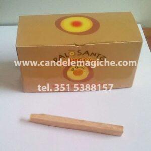 scatola di legnetti di palo santo