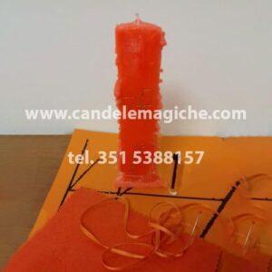 candela arancione dell'arcangelo ophiel
