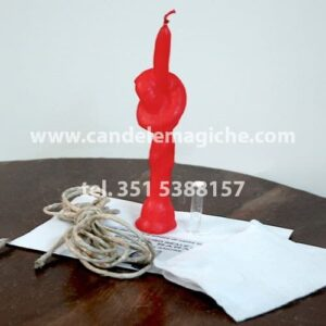 candela con nodo rossa per rito desatanudos