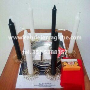 kit candele e accessori per il rito del caprone