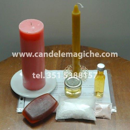 candela rosa per rituale multifunzione congo
