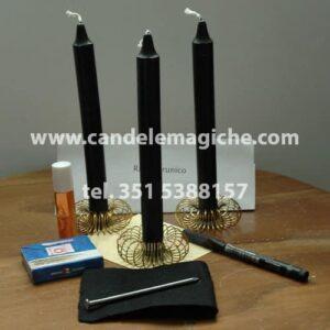 candele nere per rito runico con rune degaz e laguz