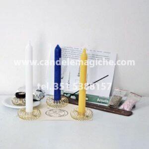 set di candele per il rito della fata del mezzogiorno