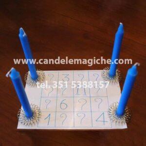 candele azzurre necessarie per il rito di iuppiter
