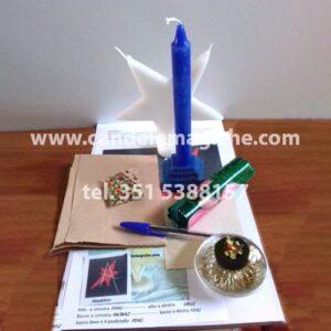 candela azzurra a candela a stella per rito luciferiano abaddon