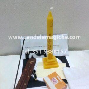 kit candela e accessori per il rito di magia stellare del leone