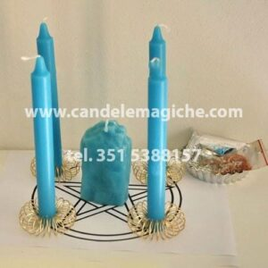 candele azzurre per il rito del muro celeste
