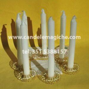 candele cilindriche bianche per il rito nigeriano per trovare lavoro