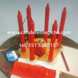 set di candele arancioni per rituale della notte di halloween