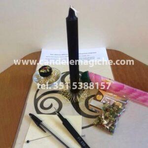 candela per rituali di sblocco