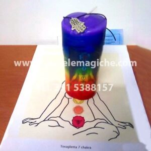 candela sette chakra per rituale
