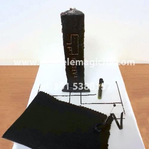 candela nera dell'arcangelo aratron per rituale