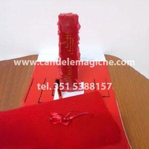 candela rossa dell'arcangelo phaleg per rituale