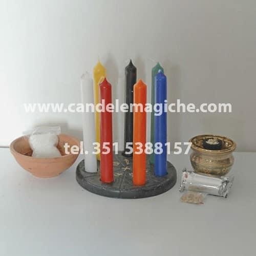 set di candele colorate per il rituale astrale di purificazione personale