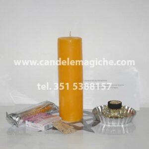 cero di colore giallo per rituale ebraico di purificazione