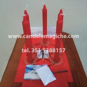 candele rosse per rituale di equilibrio e stabilità mentale