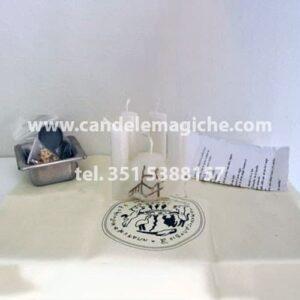 candela figurata per rito di purificazione e protezione contro i nemici