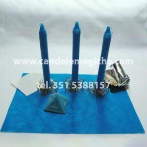 tre candele celesti per il rituale salomonico di giove