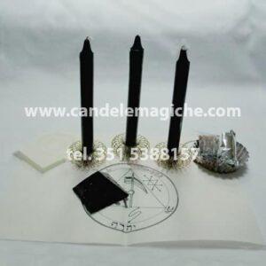 tre candele nere per il rituale salomonico di saturno